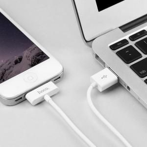 USB кабель HOCO iPhone 4 X23 Skilled белый